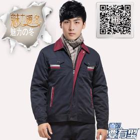 百年老屠现货工装817 冬季活里活面双层棉服工作服 深蓝色工作服棉袄上衣