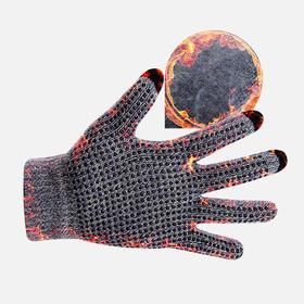 触屏手套男士冬季开车防滑加绒加厚保暖针织毛线触摸屏手套女