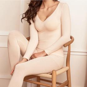冬季爆款,德绒全新升级大V领莫代尔自控发热37度女神保暖内衣套装