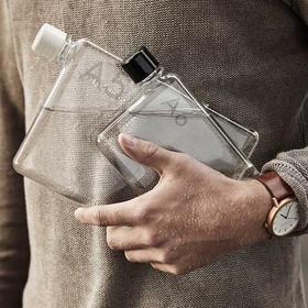 官方进口Memobottle 创意水瓶A5 A6扁平纸张水杯 书型水壶 随手杯