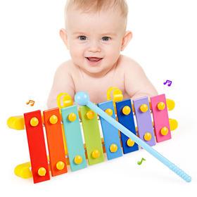 幼儿童婴儿手敲琴8个月宝宝益智乐器玩具1-2-3周岁八音琴