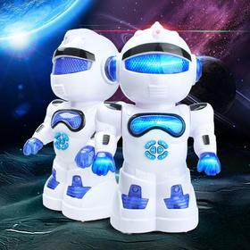 儿童益智讲故事闪光跳舞机器人电动T1智能机器人模型玩具