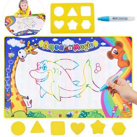 清水绘画益智神奇魔法水画布 儿童水写布宝宝早教绘画涂鸦毯