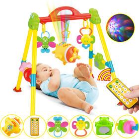 婴幼儿玩具青蛙健身架玩具早教遥控飞机故事机带音乐摇铃