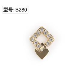 【美甲金属饰品】B280金色超闪锆石小碎钻组合菱形拼接款金底弧面弧度
