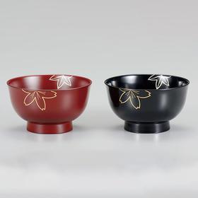【几度春秋】日本越前漆器 手描莳绘 夫妻汤碗2只装