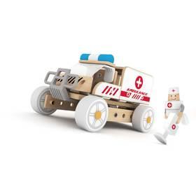 德国可来赛 搭建系列木质玩具拼装救护车 培养想象力男宝女宝通用玩具