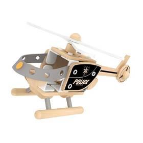 德国可来赛 搭建系列木质玩具警用直升机 男宝玩具