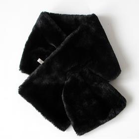 兔毛毛领子围巾