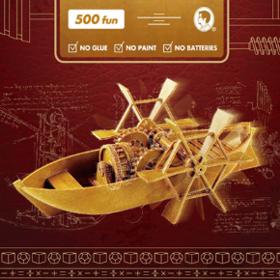 达芬奇的机械设计发明,被做成了DIY模型