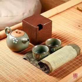 """读者·书房 """"梅瓣""""茶器花器五件套 赠送:蓝色大茶包"""