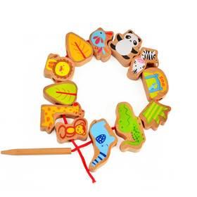 德国 可来赛儿童益智木制穿珠子 锻炼精细动作