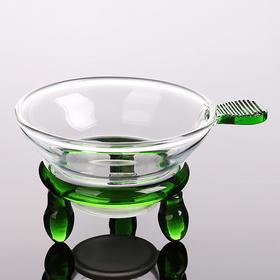 耐热玻璃茶壶茶漏透明玻璃功夫茶具茶道配件隔滤茶器 过滤网茶具