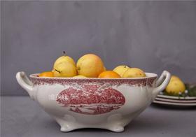 【特价】外贸陶瓷 圣诞纪念版 双耳长方形 汤盆蔬果盆Sangria盆 满包邮