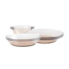 康宁制造商 6件装 琥珀玻璃餐具