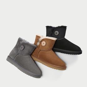 【UGG制造商出品】MR.ING 澳洲羊皮毛一体 纳米防水科技雪地靴 女款 3色可选