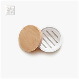 米马杂货带磁石扣榉木皂盒一心一意打扫卫生必有奇迹发生