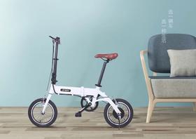 乔威折叠电动自行车轻便智能代步助力电动车 迷你锂电池自行车