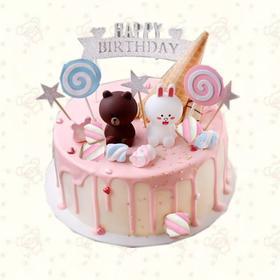 布朗熊淋面蛋糕