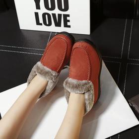 D3冬季老北京布鞋女奶奶棉鞋防滑中老年人加绒保暖平底老太太妈妈鞋【魅影】