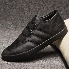 D3热闹客冬季男鞋棉鞋一脚蹬加绒保暖板鞋韩版潮流休闲鞋皮鞋二棉鞋【魅影】