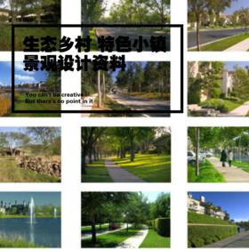 生态 乡村 古镇 特色小镇 风情小镇 旅游小镇 田园小镇景观设计资料