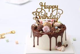 巧克力淋酱蛋糕