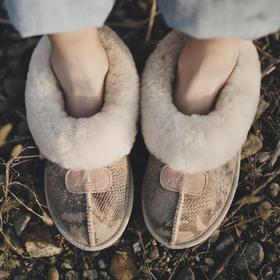 副本D3豆豆雪地靴女皮毛一体冬季毛毛鞋加绒孕妇棉瓢鞋豆豆鞋女学生韩版【魅影】