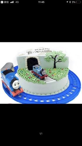 会跑的托马斯小火车蛋糕