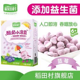 稻田村酸奶溶豆 婴儿零食宝宝小溶豆溶溶豆入口即化蓝莓溶豆18g