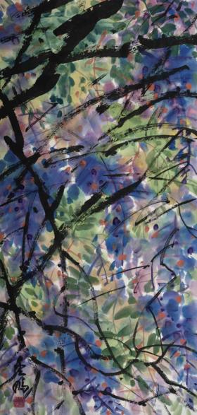 大班新水墨其他系列作品  / 《花卉系列3 》/97x48cm