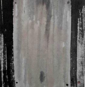 大班新水墨人体系列作品  / 《浴室中的镜子 》/68x68cm