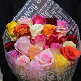 【菲集】团购 厄瓜多尔农场花束 25支玫瑰花 Rainbow mix 彩虹混⾊花束 多款多色 进口鲜花