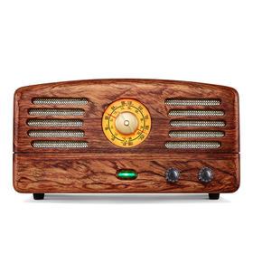 MAO KING猫王1花梨木收音机 老人广播复古电子管实木手机蓝牙音箱