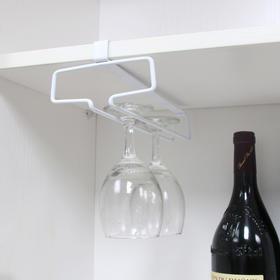 日式 咖啡杯架红酒杯架 悬挂免钉隔板高杯架 创意厨房用品收纳架
