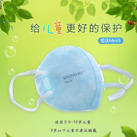 思沃 SINOVO 专业级防护口罩,防PM2.5,防雾霾,防颗粒物粉尘,透气独立装