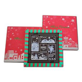 【预售包邮】圣诞限定版 立体浮雕纯脂黑巧克力 送女朋友的甜蜜回忆
