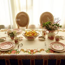 加厚棉麻混纺 桌布 家宴轰趴下午茶 古典风 满包邮