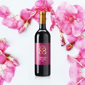 88经典梅洛红葡萄酒750毫升