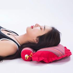凉山荞麦老粗布颈椎枕头  传统工艺,天然材质,睡眠神器 热卖