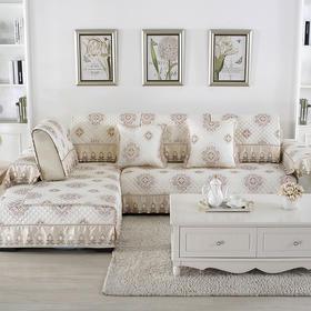 欧式印花沙发垫 梦回-米黄