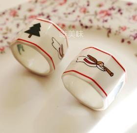 陶瓷 圣诞主题 餐巾扣 家宴轰趴下午茶 满包邮