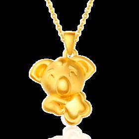 快乐考拉系列3D硬金吊坠