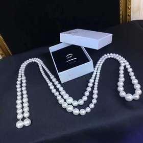 维纳斯的诞生925银镶锆长款贝珠项链