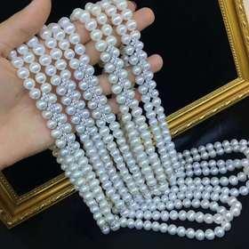 维纳斯的诞生925镶锆珍珠长款项链