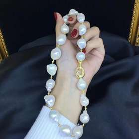 鲛人泪925银异形珍珠项链