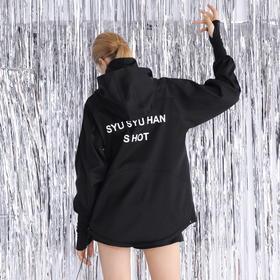 SYUSYUHAN设计师品牌 日本进口面料抗皱光泽立领手套超酷短款风衣