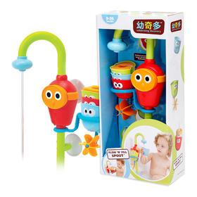 国内现货 美国yookidoo幼奇多 洗澡戏水电动水喉叠叠乐玩具 花洒喷水玩具