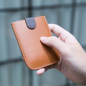 DAX真皮层叠卡包抽拉迷你零钱包男女皮质超薄多卡位包随身名片包