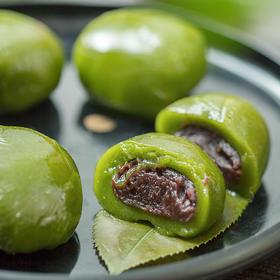 上海功德林  豆沙艾草青团粑粑清明果 传统手工糯米团子糕点点心